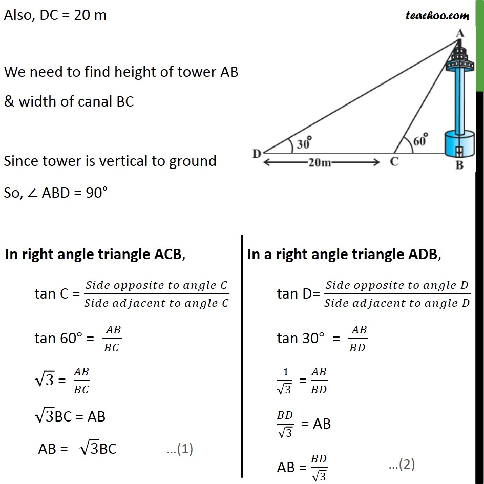 Ex 9.1, 11 - Chapter 9 Class 10 Some Applications of Trigonometry - Part 2