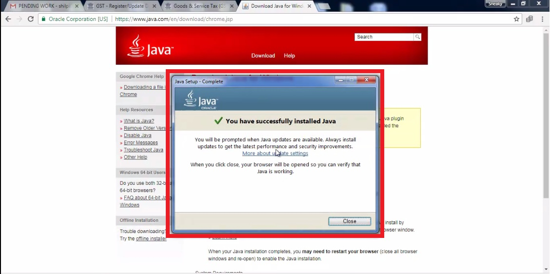 5. java Install successfully.jpg