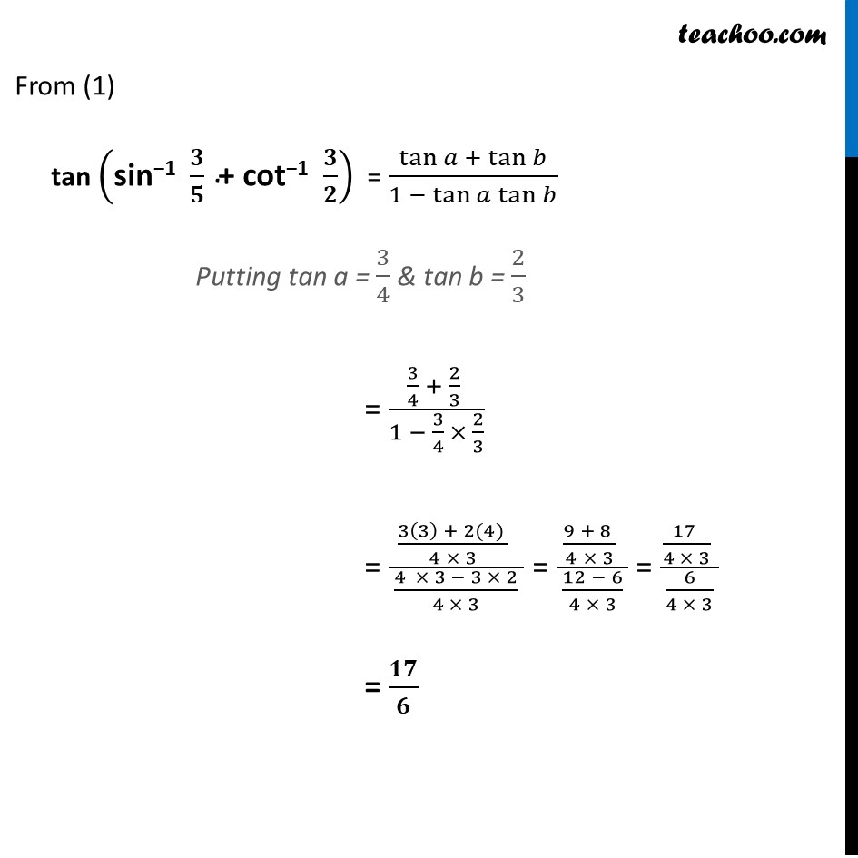 Ex 2.2, 18 - Chapter 2 Class 12 Inverse Trigonometric Functions - Part 3
