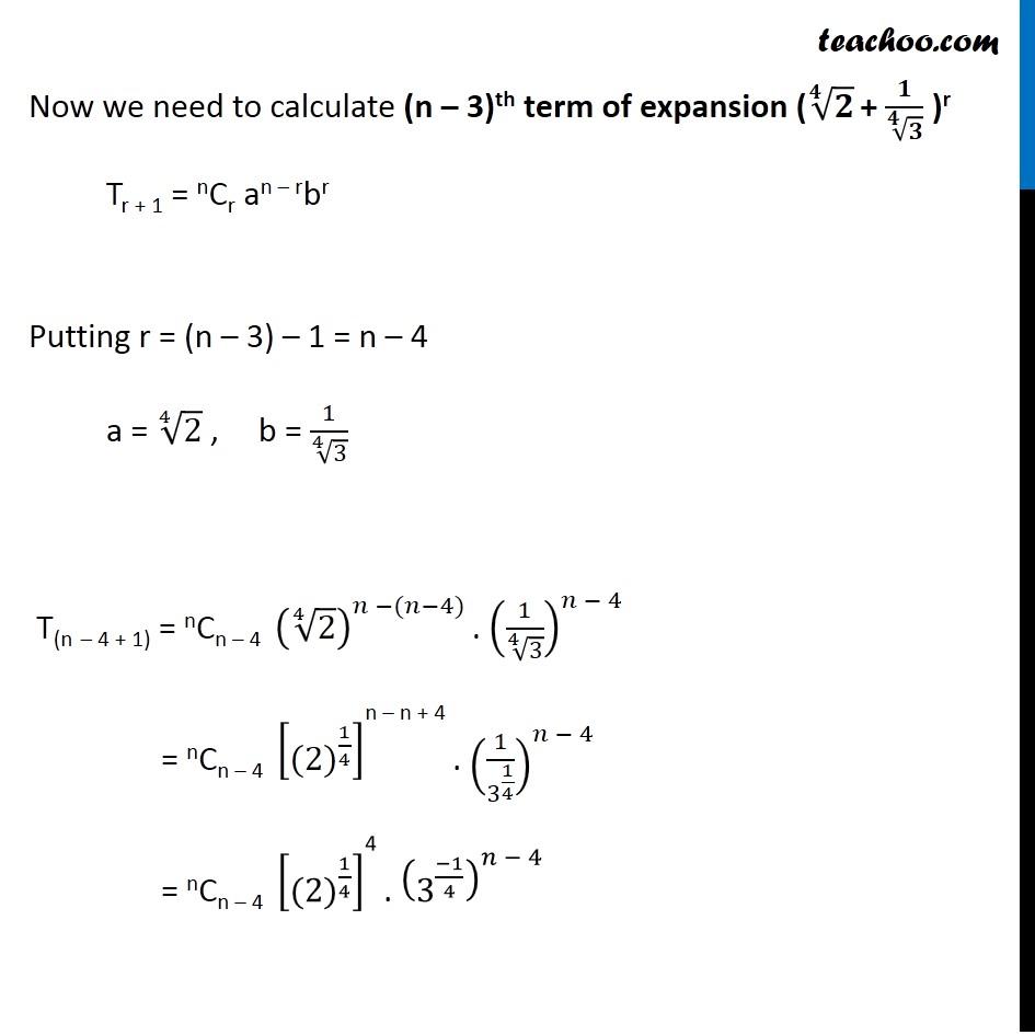 Misc  8 - Chapter 8 Class 11 Binomial Theorem - Part 4