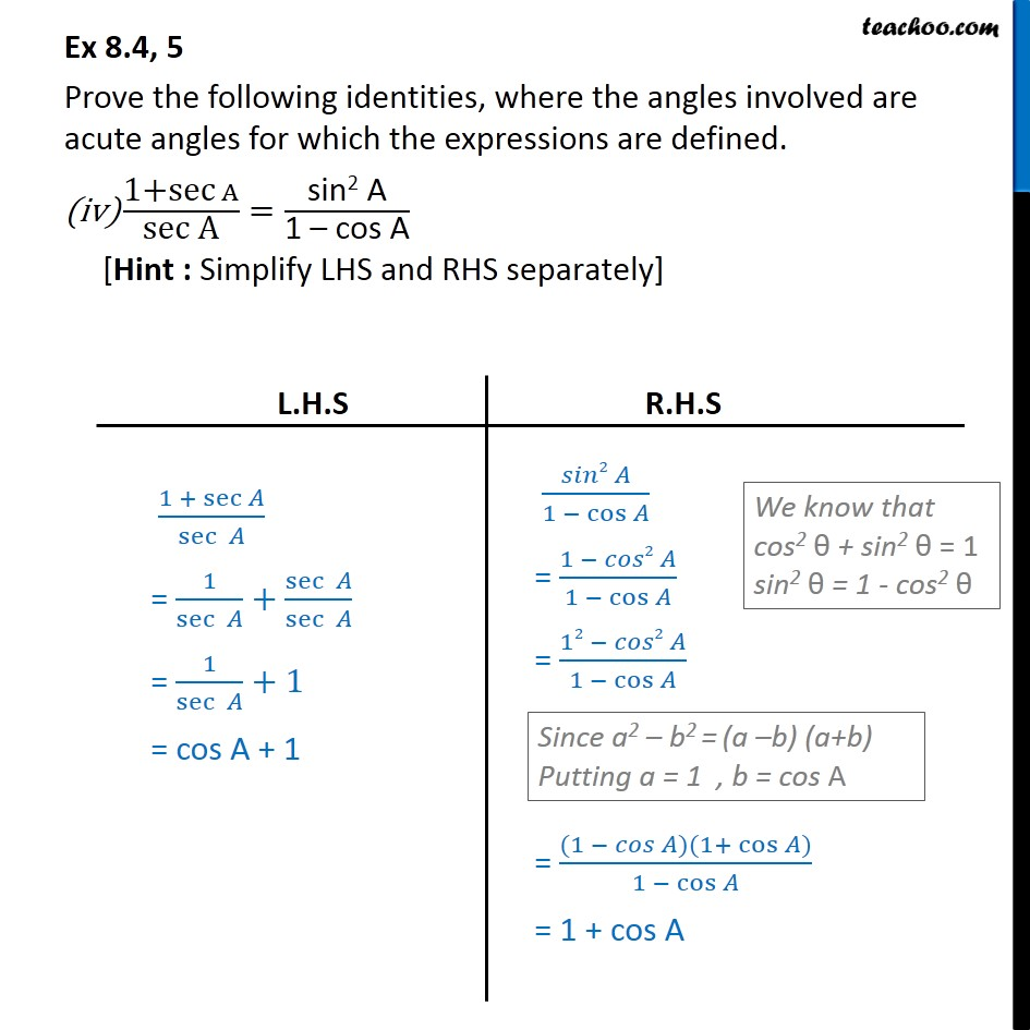 Ex 8.4, 5 - Chapter 8 Class 10 Introduction to Trignometry - Part 8