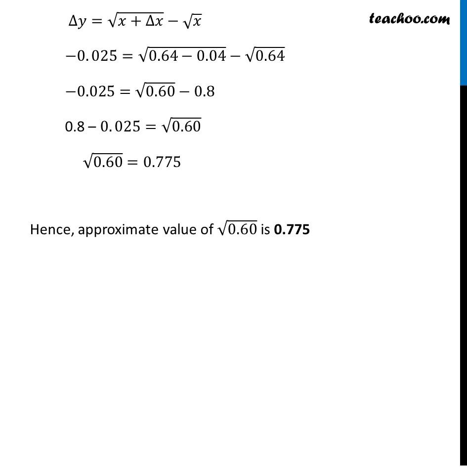 Ex 6.4, 1 (iii) - Chapter 6 Class 12 Application of Derivatives - Part 3
