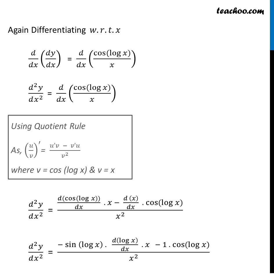Ex 5.7, 10 - Chapter 5 Class 12 Continuity and Differentiability - Part 2