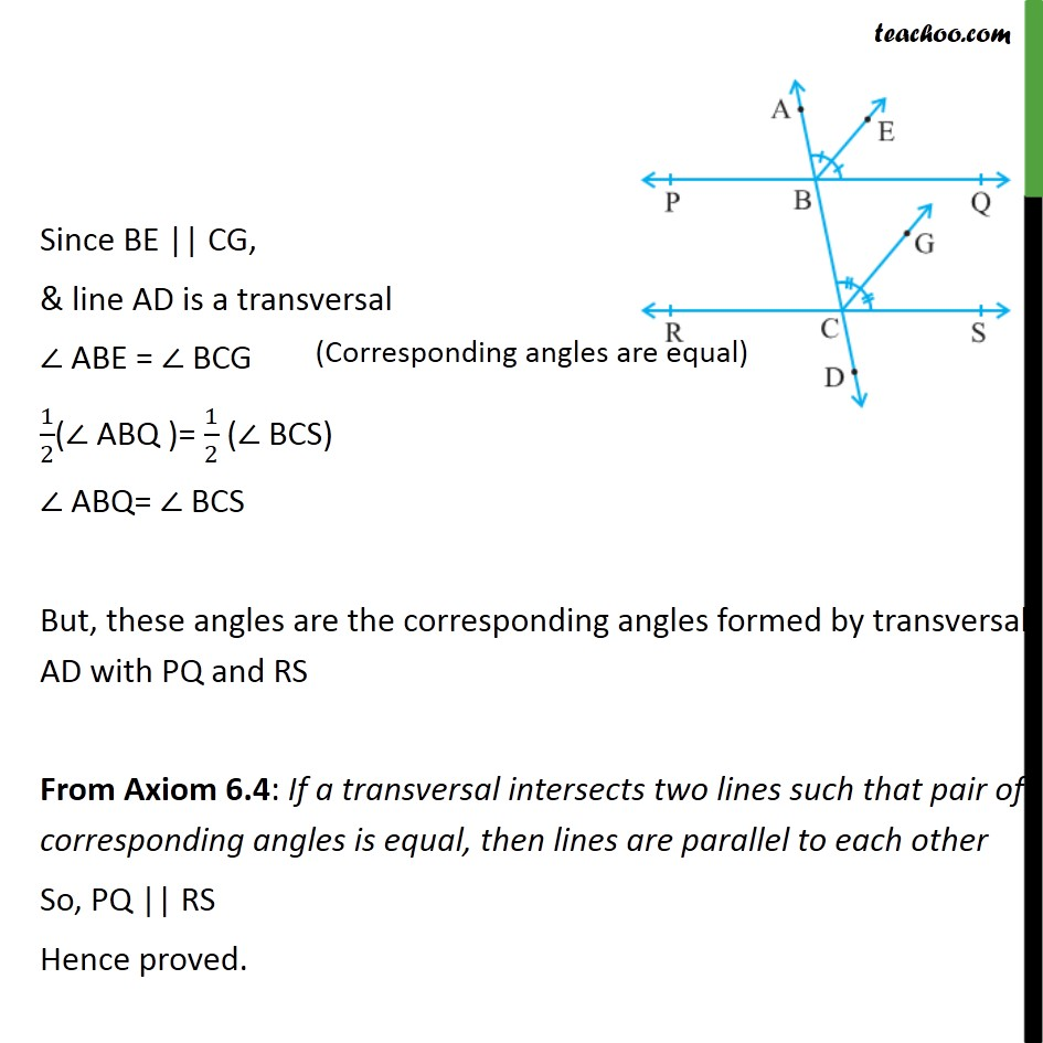 Example 5 - Chapter 6 Class 9 Lines and Angles - Part 2