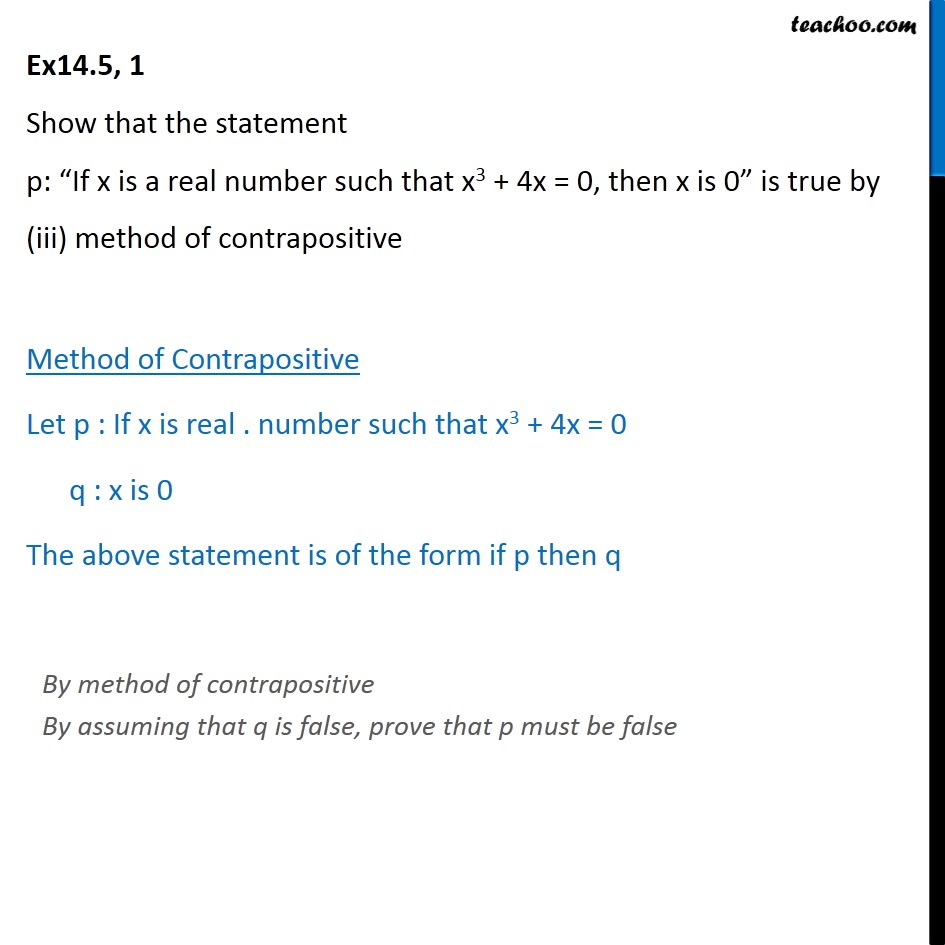 Ex 14.5, 1 - Chapter 14 Class 11 Mathematical Reasoning - Part 6