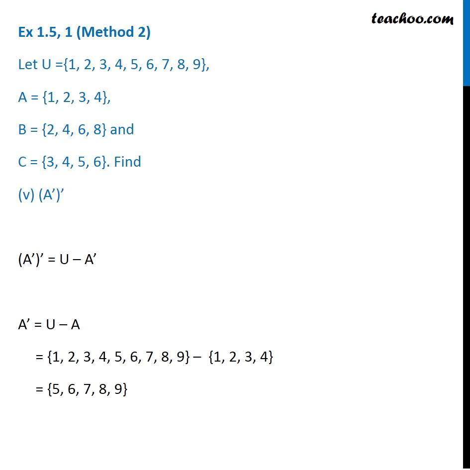 Ex 1.5, 1 - Chapter 1 Class 11 Sets - Part 10