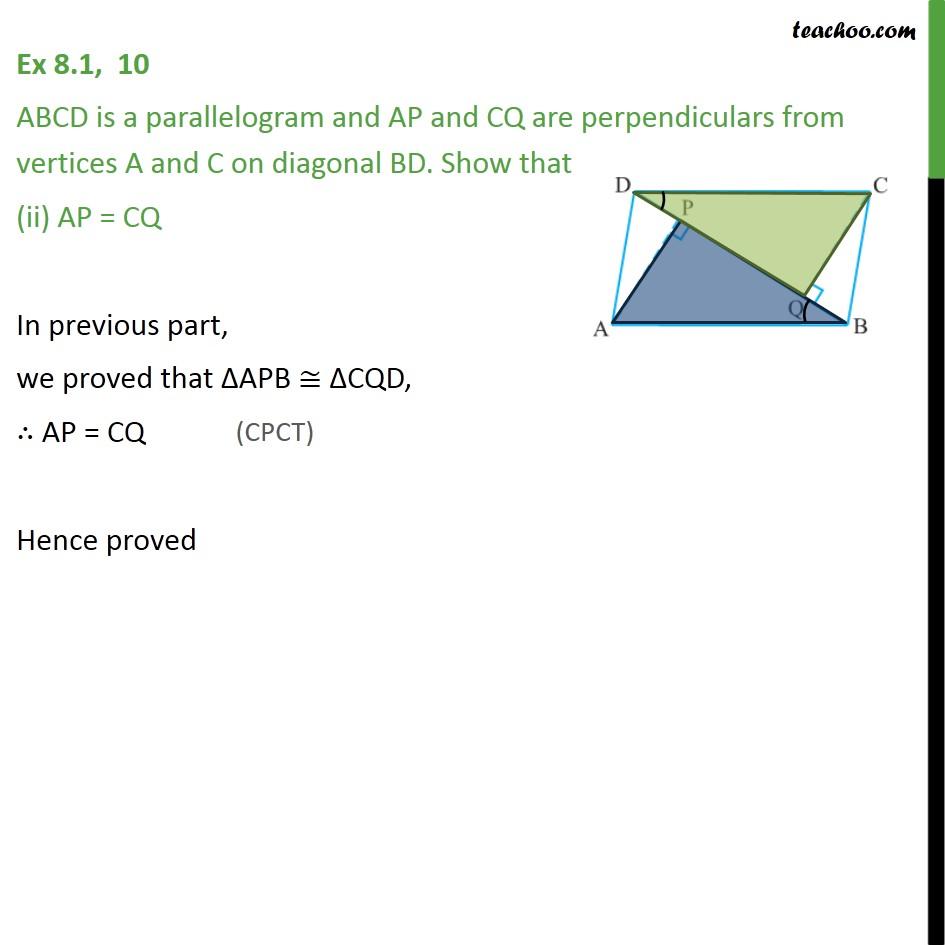 Ex 8.1, 10 - Chapter 8 Class 9 Quadrilaterals - Part 3