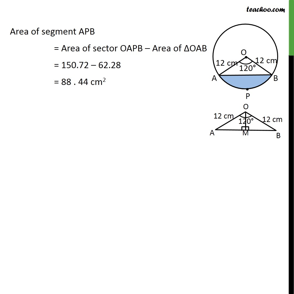 Ex 12.2, 7 - Chapter 12 Class 10 Areas related to Circles - Part 5