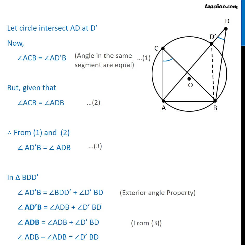 2 Theorem 10.10 - Class 9 - Let circle intersect AD at D Now ACB = ADB.jpg