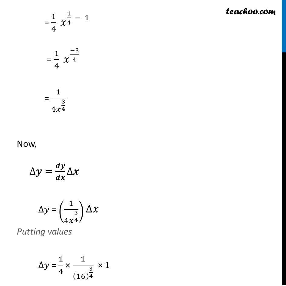 Misc 1 - Chapter 6 Class 12 Application of Derivatives - Part 2