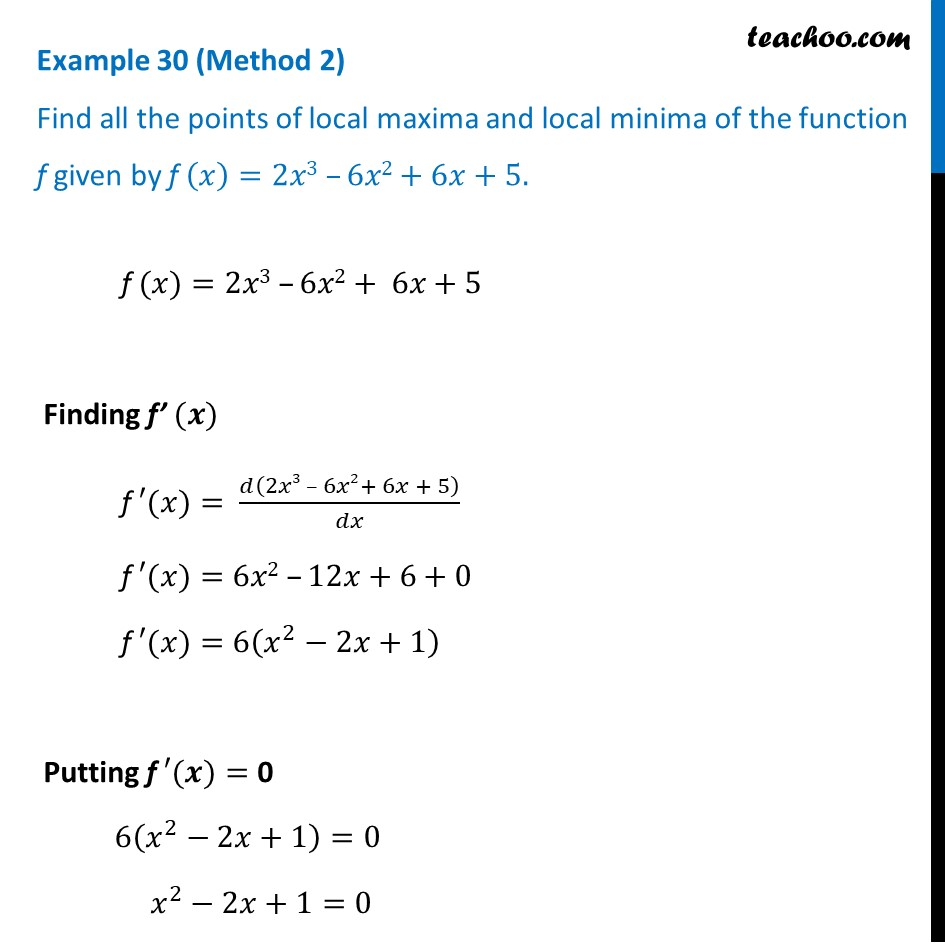 Example 30 - Chapter 6 Class 12 Application of Derivatives - Part 3