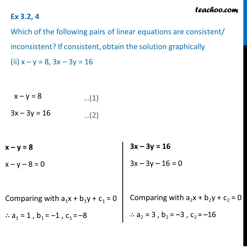 Ex 3.2, 4 - Chapter 3 Class 10 Pair of Linear Equations in Two Variables - Part 6