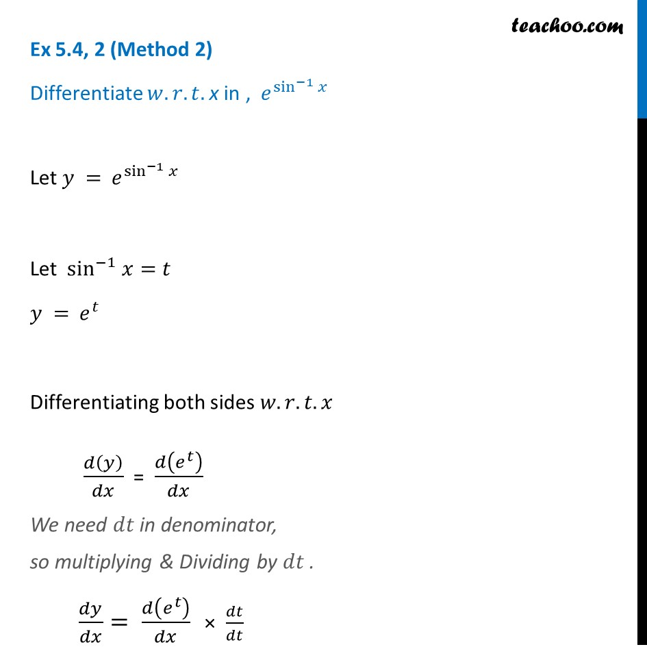 Ex 5.4, 2 - Chapter 5 Class 12 Continuity and Differentiability - Part 2