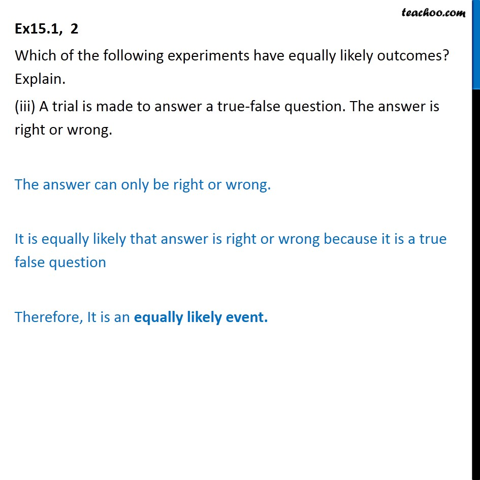 Ex 15.1, 2 - Chapter 15 Class 10 Probability - Part 3