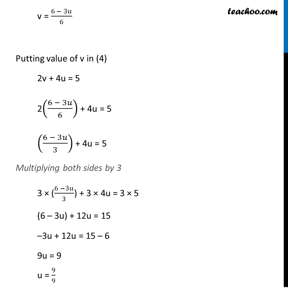 Ex 3.6, 1 (v) and (vi) - Chapter 3 Class 10 Pair of Linear Equations in Two Variables - Part 8