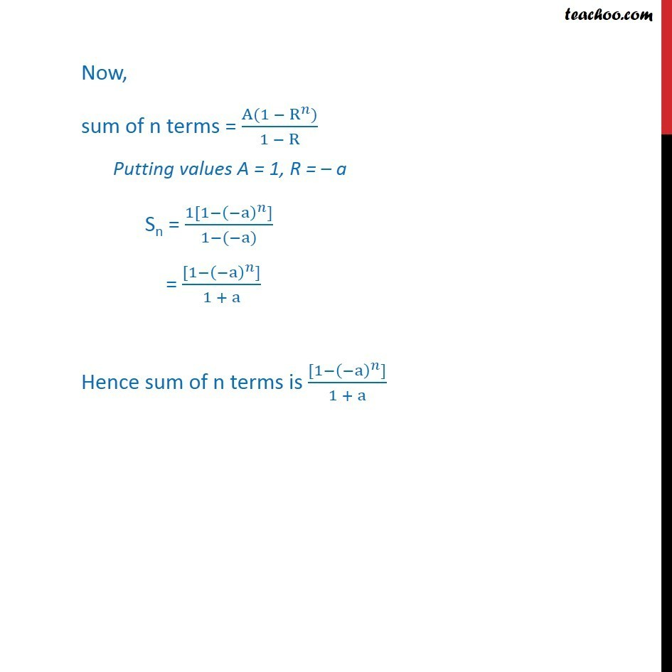 Ex 9.3, 9 - Chapter 9 Class 11 Sequences and Series - Part 2