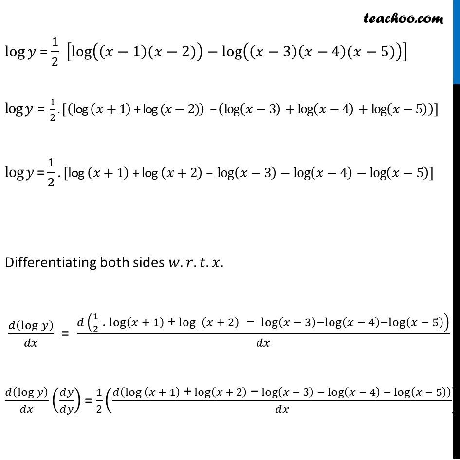 Ex 5.5, 2 - Chapter 5 Class 12 Continuity and Differentiability - Part 2