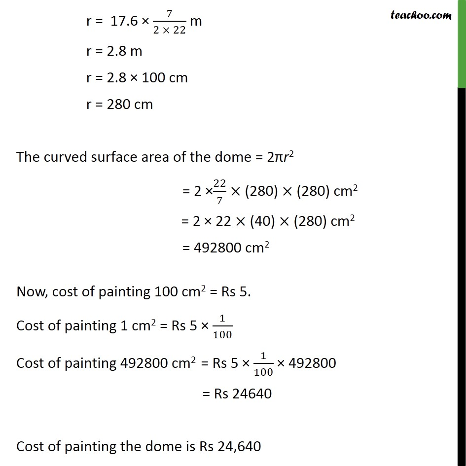 Example 10 - Chapter 13 Class 9 Surface Areas and Volumes - Part 2