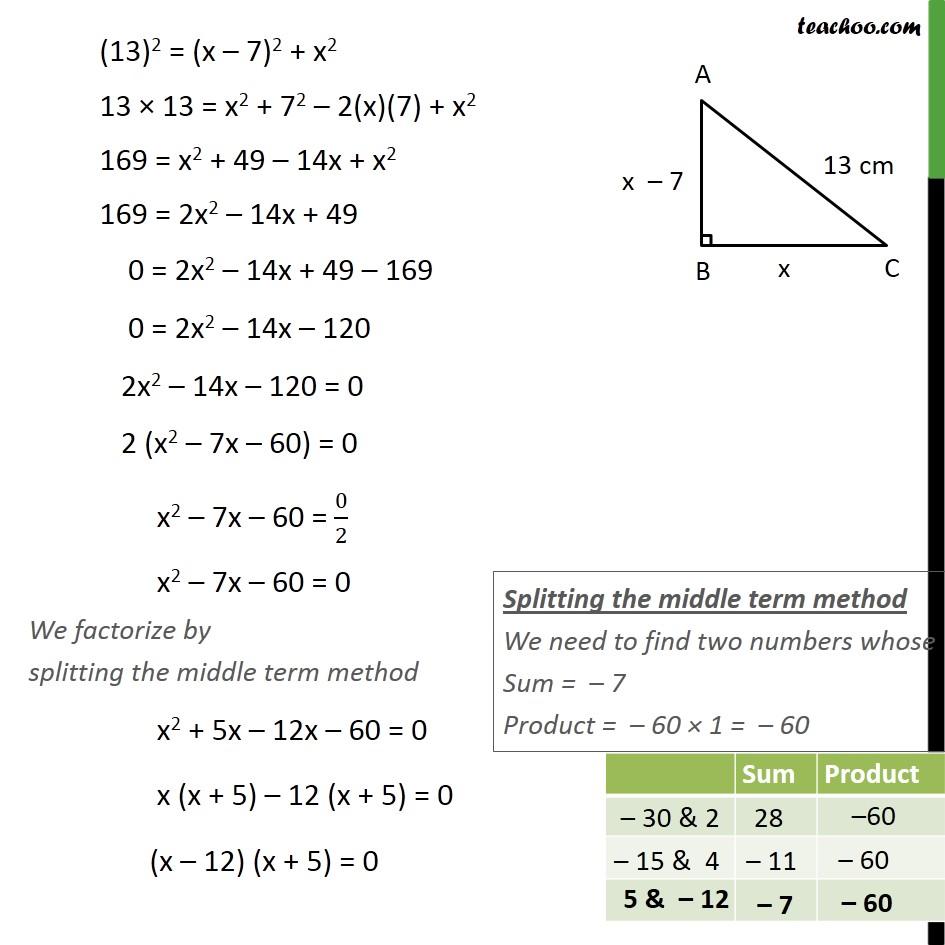 Ex 4.2, 5 - Chapter 4 Class 10 Quadratic Equations - Part 2