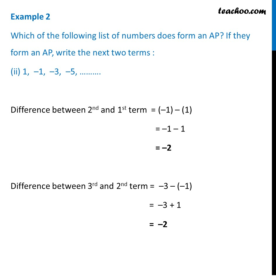Example 2 - Chapter 5 Class 10 Arithmetic Progressions - Part 4