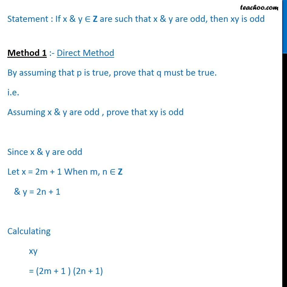 Example 13 - Chapter 14 Class 11 Mathematical Reasoning - Part 2