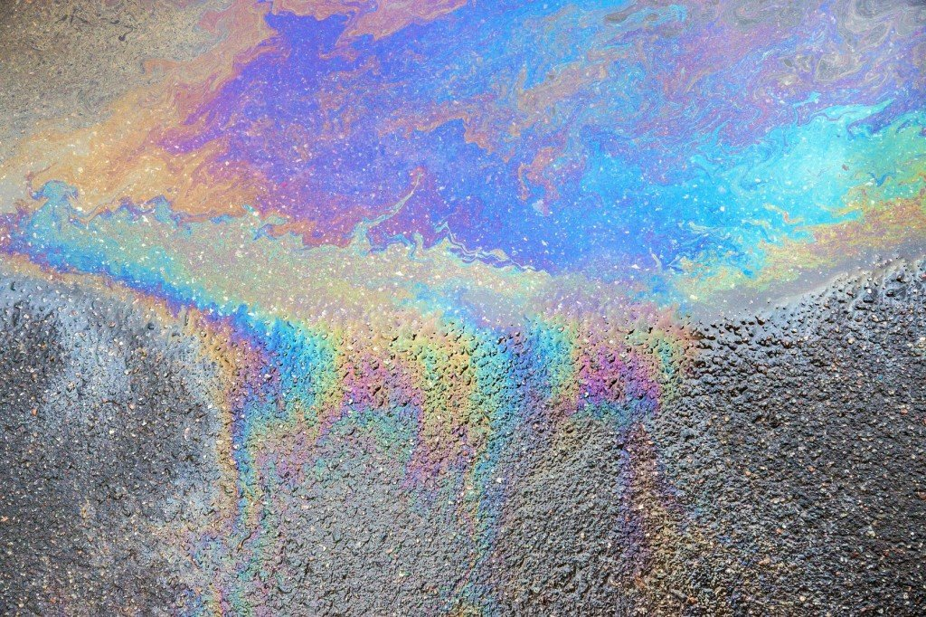 Dispersion happening in oil on road - Teachoo.jpg