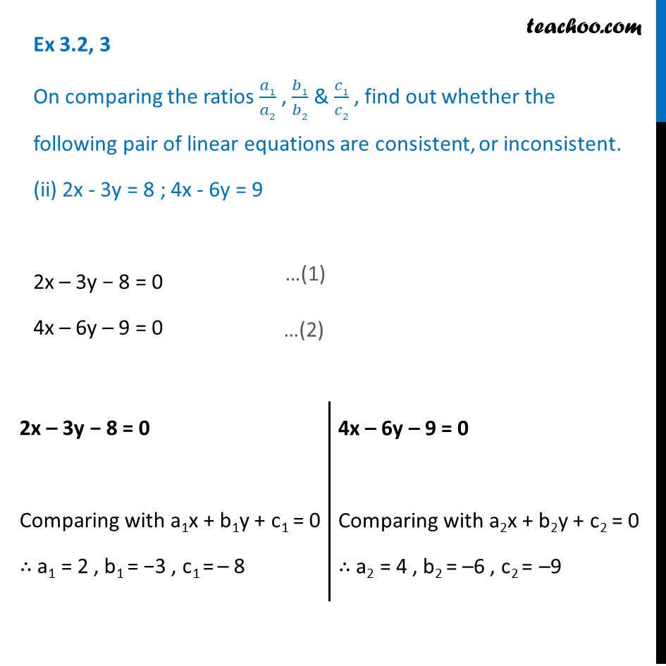 Ex 3.2, 3 - Chapter 3 Class 10 Pair of Linear Equations in Two Variables - Part 3