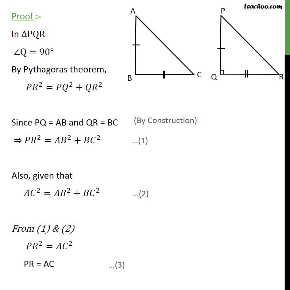 2 Theorem 6.9- In PQR, By pythagoras theorem.JPG