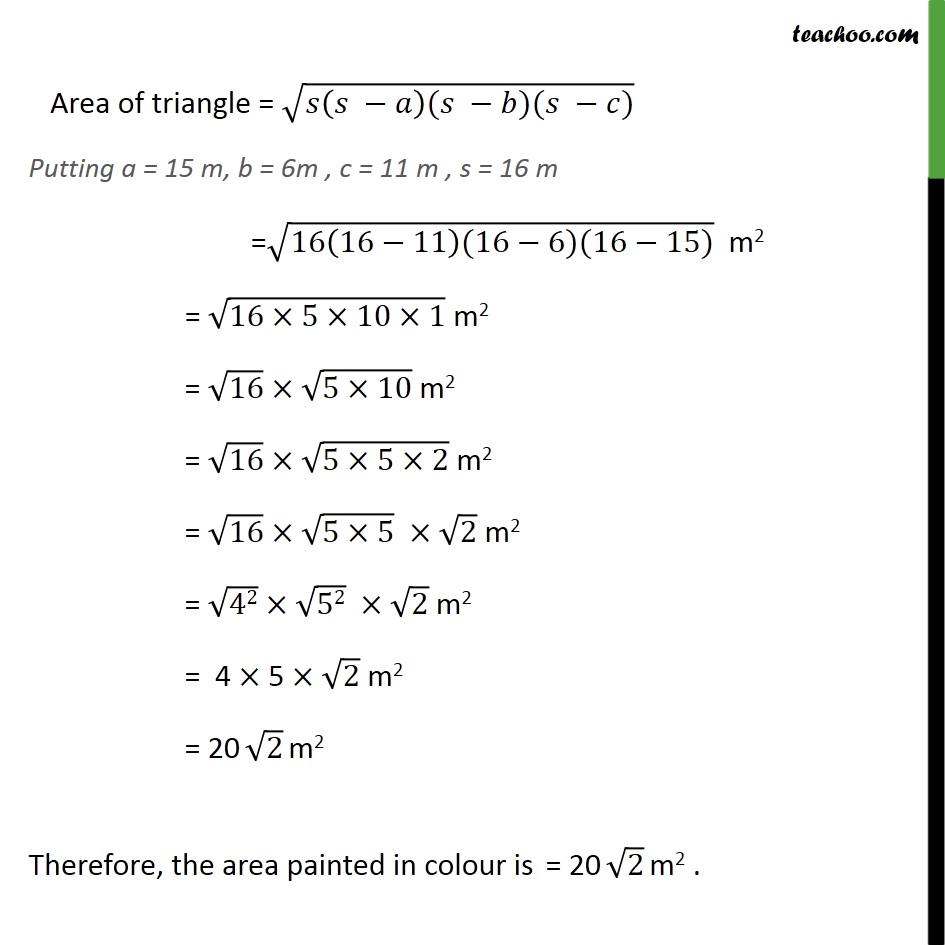 Ex 12.1, 3 - Chapter 12 Class 9 Herons Formula - Part 2