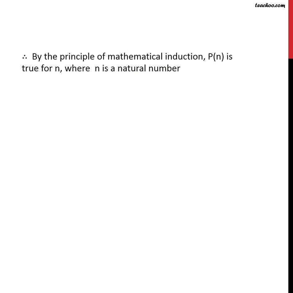 Ex 4.1, 14 - Chapter 4 Class 11 Mathematical Induction - Part 4