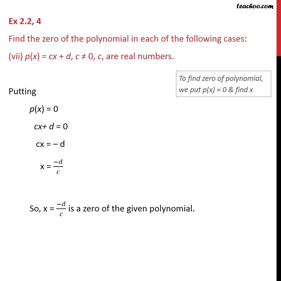 Ex 2.2,4 - Chapter 2 Class 9 Polynomials - Part 7