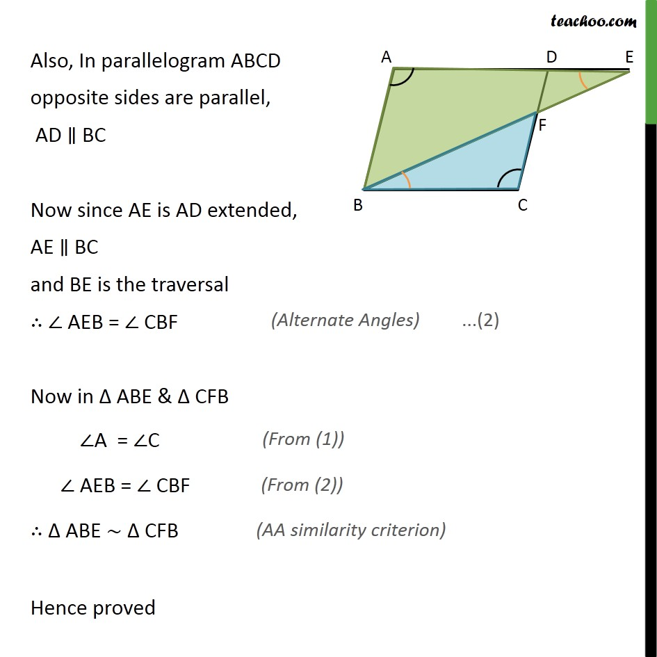 Ex 6.3, 8 - Chapter 6 Class 10 Triangles - Part 2