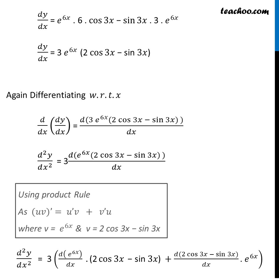 Ex 5.7, 7 - Chapter 5 Class 12 Continuity and Differentiability - Part 2