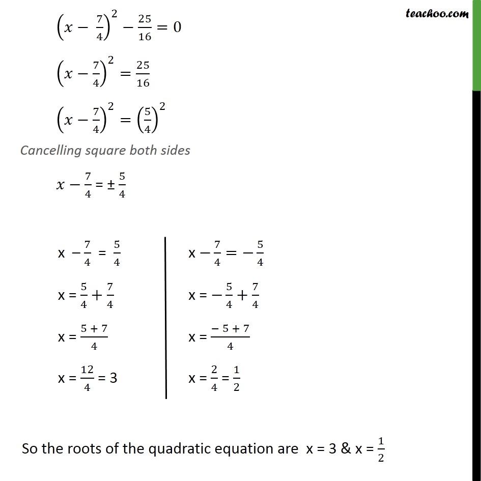 Ex 4.3, 1 (i) - Chapter 4 Class 10 Quadratic Equations - Part 3