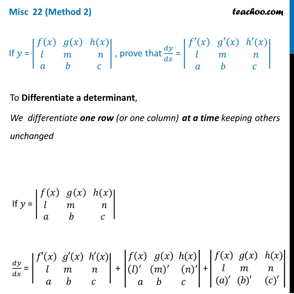 Misc  22 - Chapter 5 Class 12 Continuity and Differentiability - Part 4