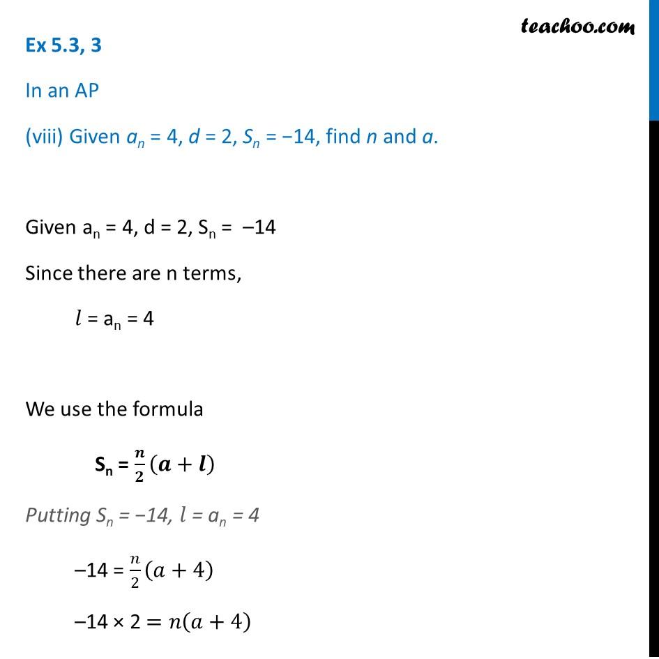 Ex 5.3, 3 - Chapter 5 Class 10 Arithmetic Progressions - Part 19
