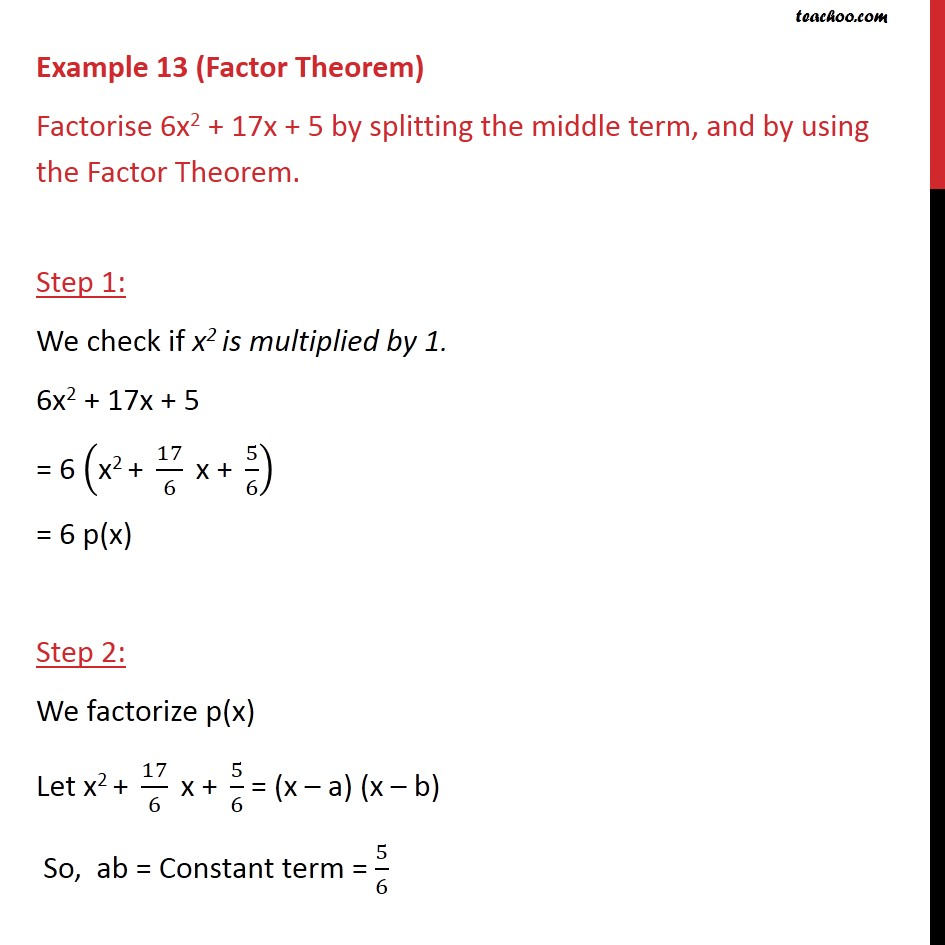 Example 13 - Chapter 2 Class 9 Polynomials - Part 2