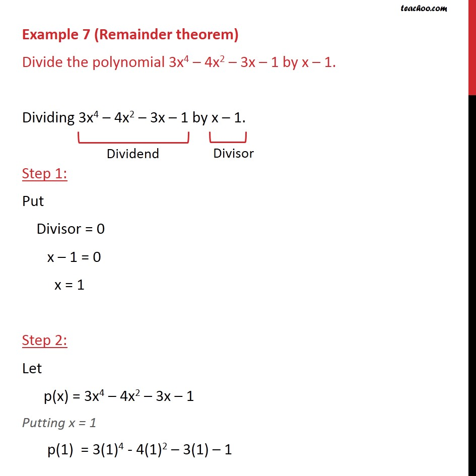 Example 7 - Chapter 2 Class 9 Polynomials - Part 2