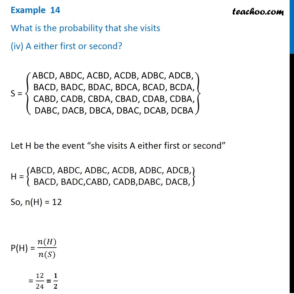 Example 14 - Chapter 16 Class 11 Probability - Part 5