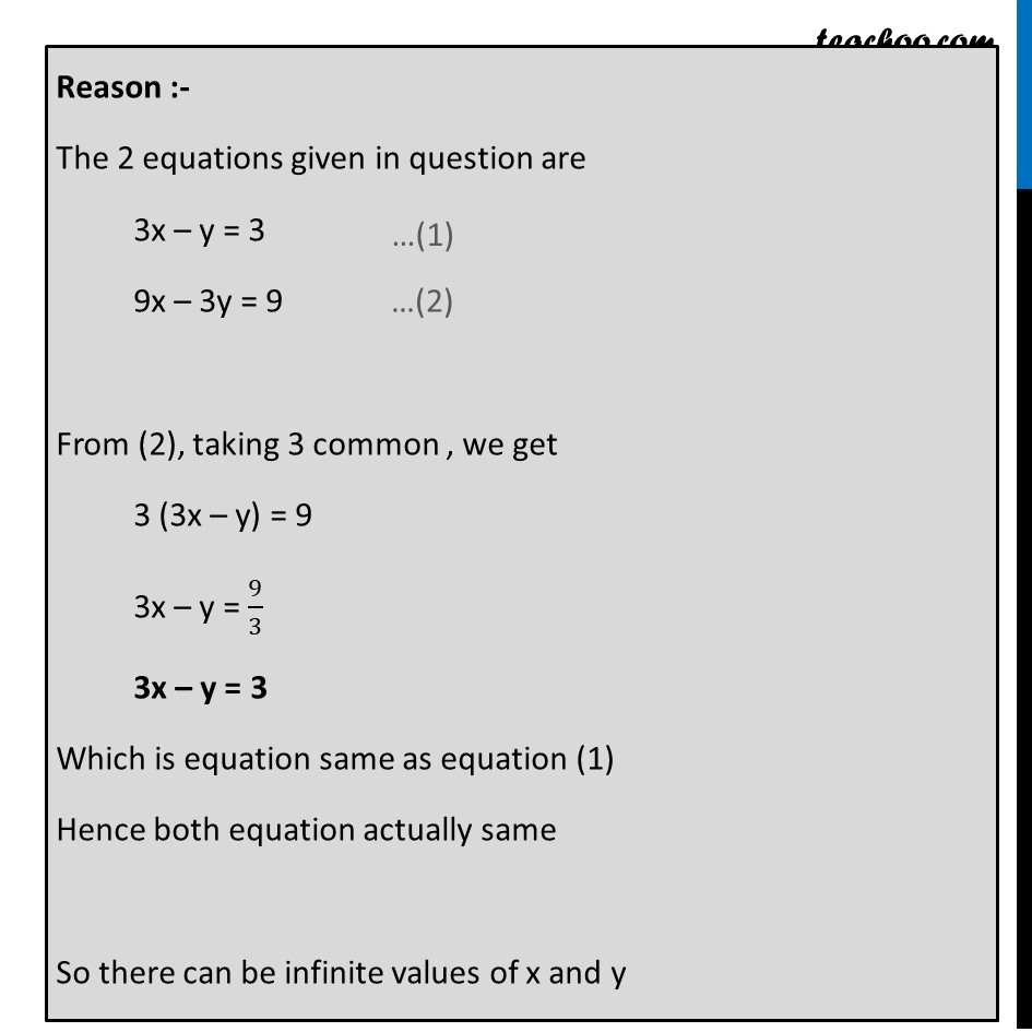 Ex 3.3, 1 - Chapter 3 Class 10 Pair of Linear Equations in Two Variables - Part 9