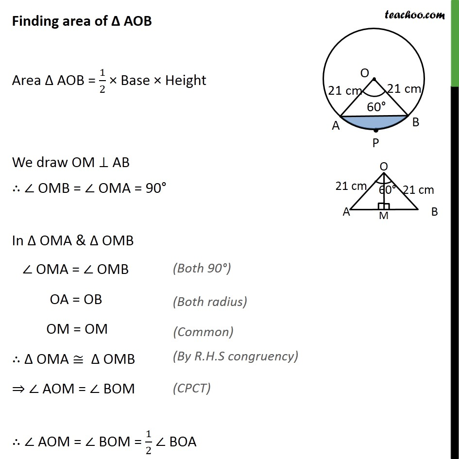 Ex 12.2, 5 - Chapter 12 Class 10 Areas related to Circles - Part 4
