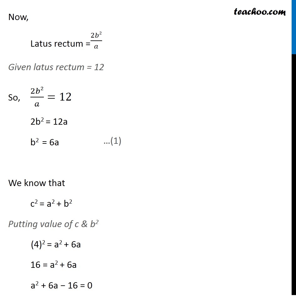 Ex 11.4,  13 - Chapter 11 Class 11 Conic Sections - Part 2