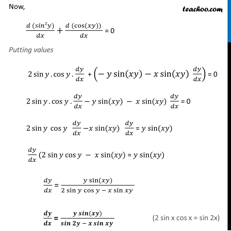 Ex 5.3, 7 - Chapter 5 Class 12 Continuity and Differentiability - Part 4
