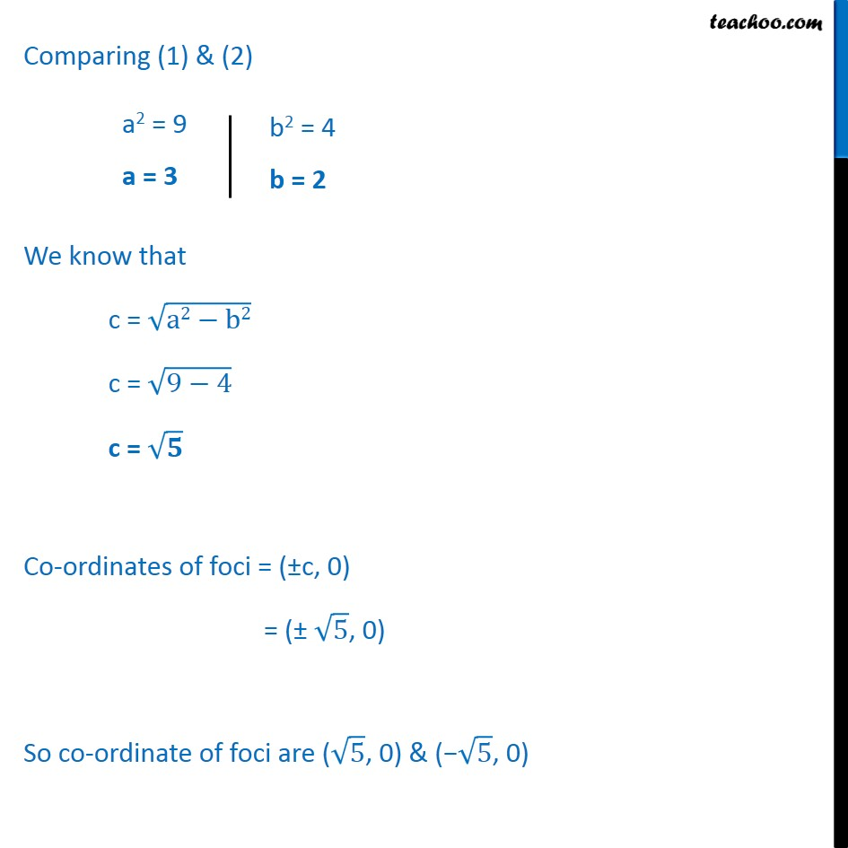 Ex 11.3,  9 - Chapter 11 Class 11 Conic Sections - Part 2