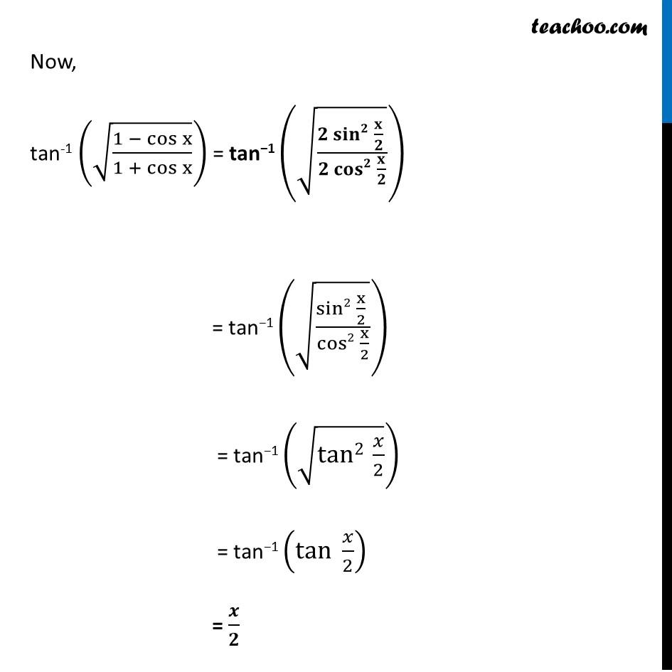 Ex 2.2, 7 - Chapter 2 Class 12 Inverse Trigonometric Functions - Part 2