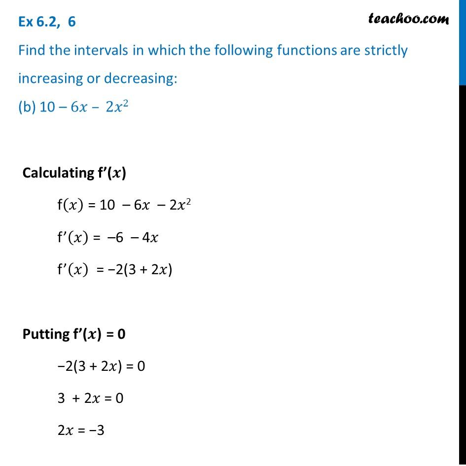 Ex 6.2,6 - Chapter 6 Class 12 Application of Derivatives - Part 3