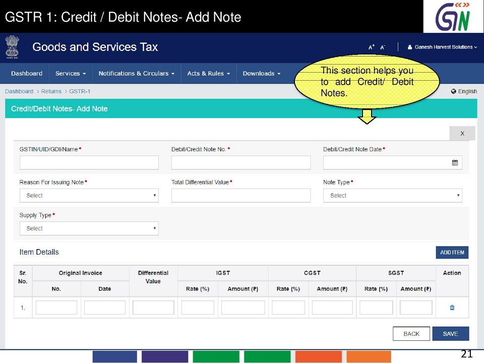 13 GSTR 1 Credit  Debit Notes-Add Note This section helps you to add CreditDebit Notes.jpg