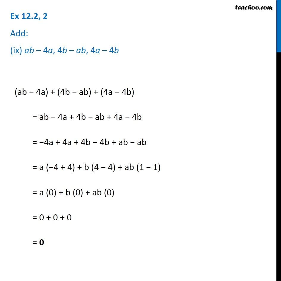 Ex 12.2, 2 - Chapter 12 Class 7 Algebraic Expressions - Part 9