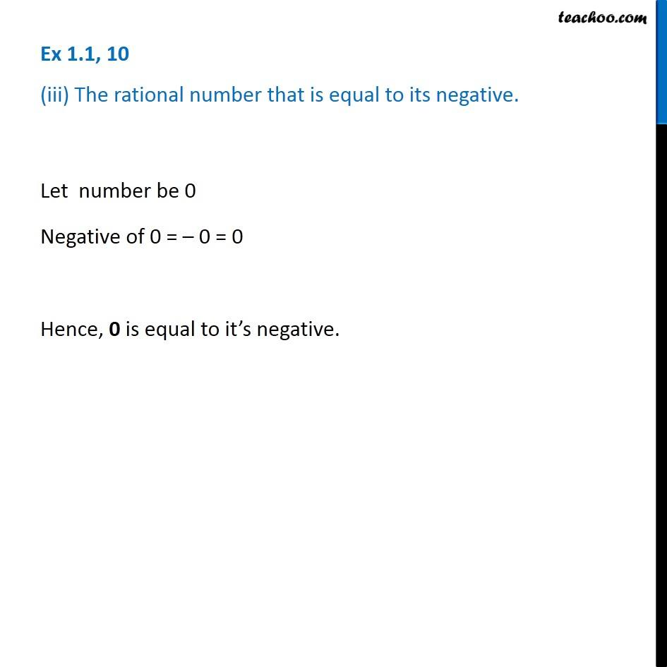 Ex 1.1, 10 - Chapter 1 Class 8 Rational Numbers - Part 3