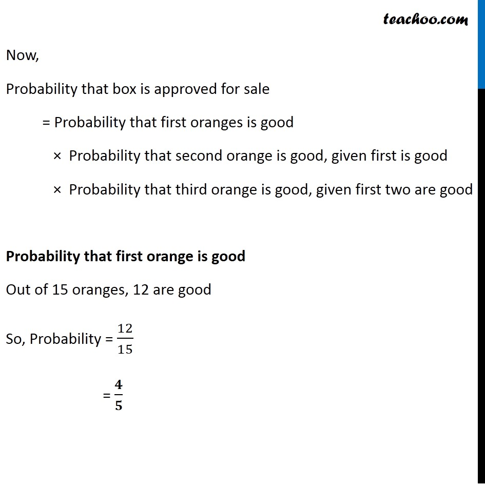 Ex 13.2, 3 - Chapter 13 Class 12 Probability - Part 2